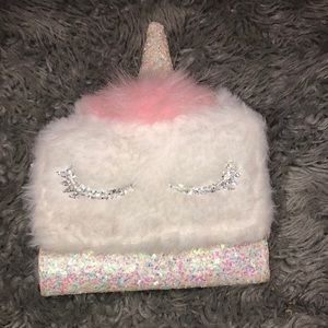 Justice for girls glitter unicorn wallet